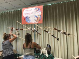 volunteers set up wls harry potter day