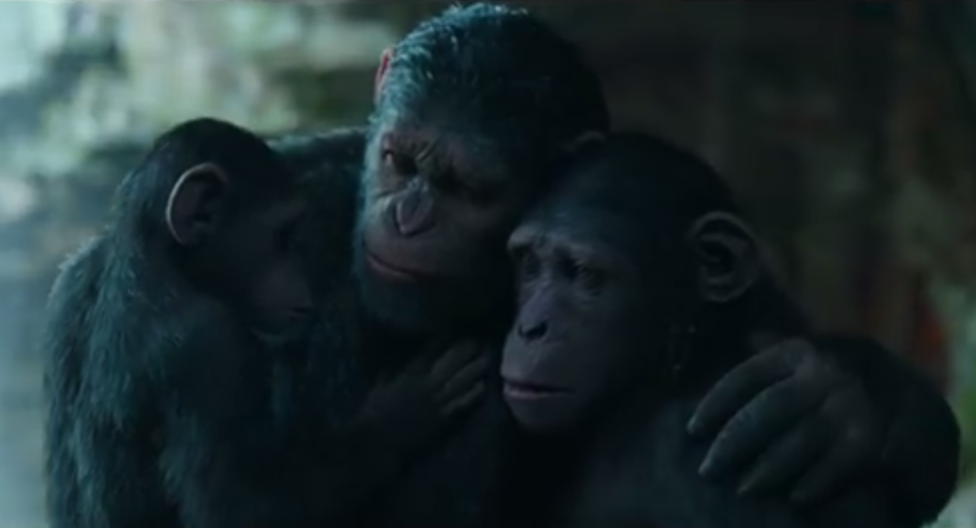 Cornelius from War Planet Apes with his parents