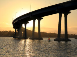 San Diego-Coronado Bay Bridge at sunset