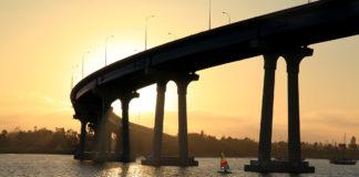 San Diego-Coronado Bay Bridge at sunset