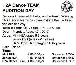 H2A dance team auditions