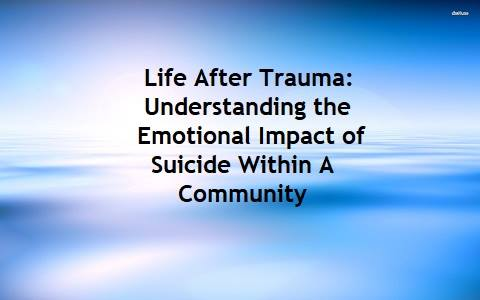 understanding the emotions and behaviors that go with suicide