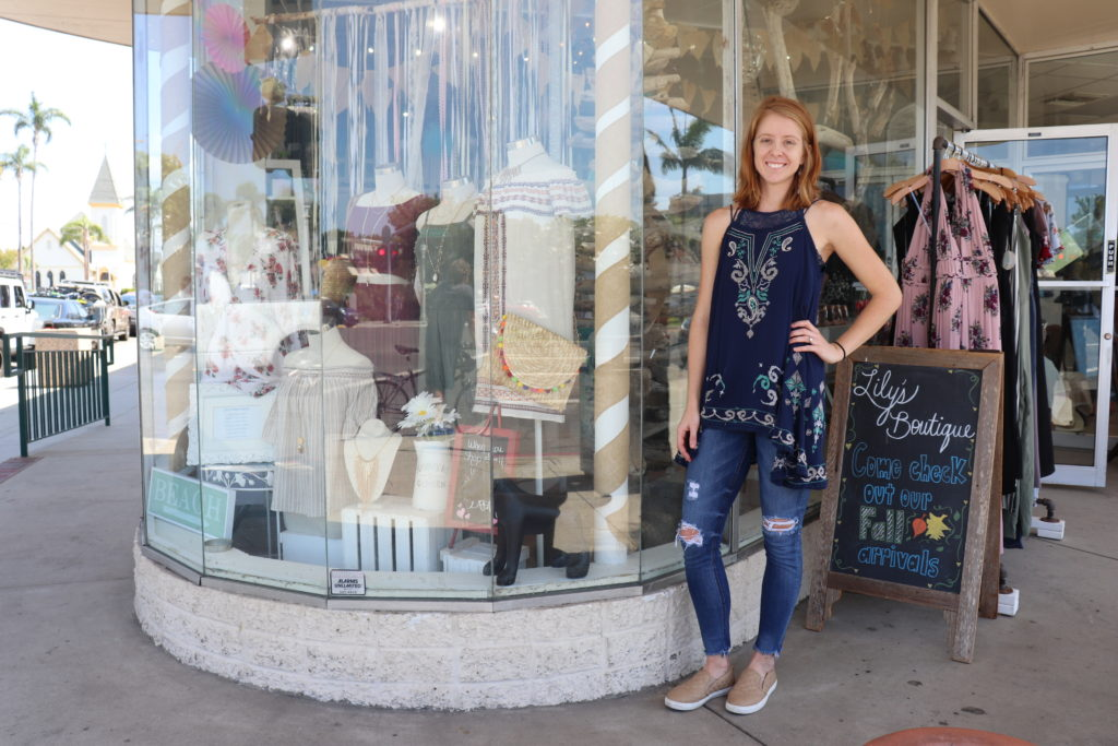 Natalie Fishbeck, owner of Lily's Boutique at MJ Brown