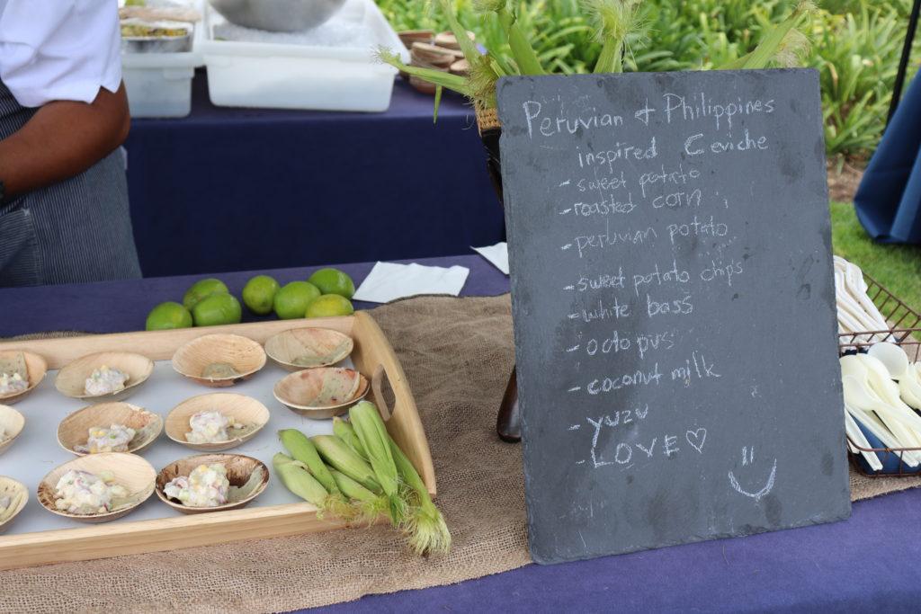 Chef DJ Tangalin's ingredients