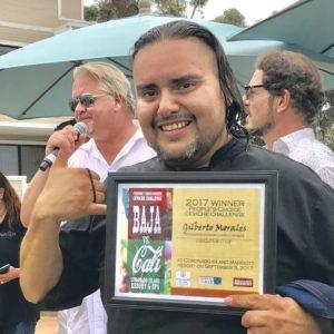 ceviche challenge winner Chef Gilberto Morales