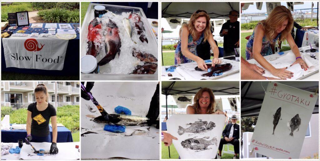 Ceviche Challenge gyotaku fish art