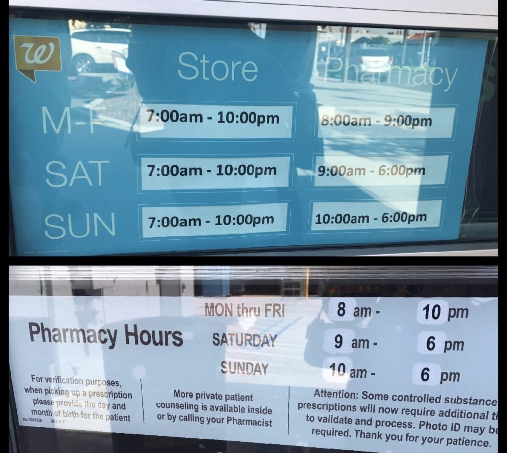 pharmacy hours