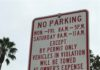 No Parking sign Permit parking zone