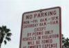 No Parking sign Permit parking zone