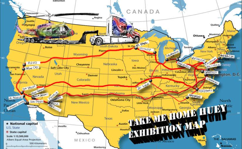 Take Me Home Huey Exhibition Map