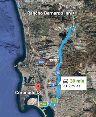 Coronado to Rancho Bernardo Inn