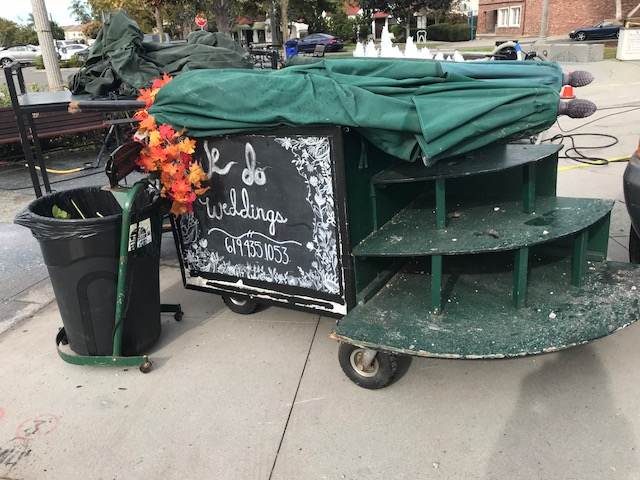 The Flower Lady cart