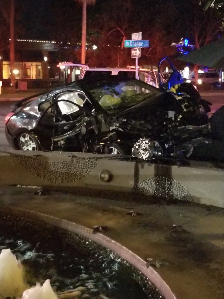 car accident Rotary Plaza
