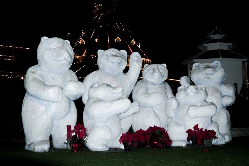 winter bears at the Hotel del Coronado