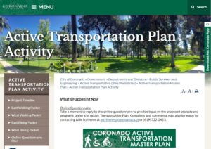 city active transportation web page