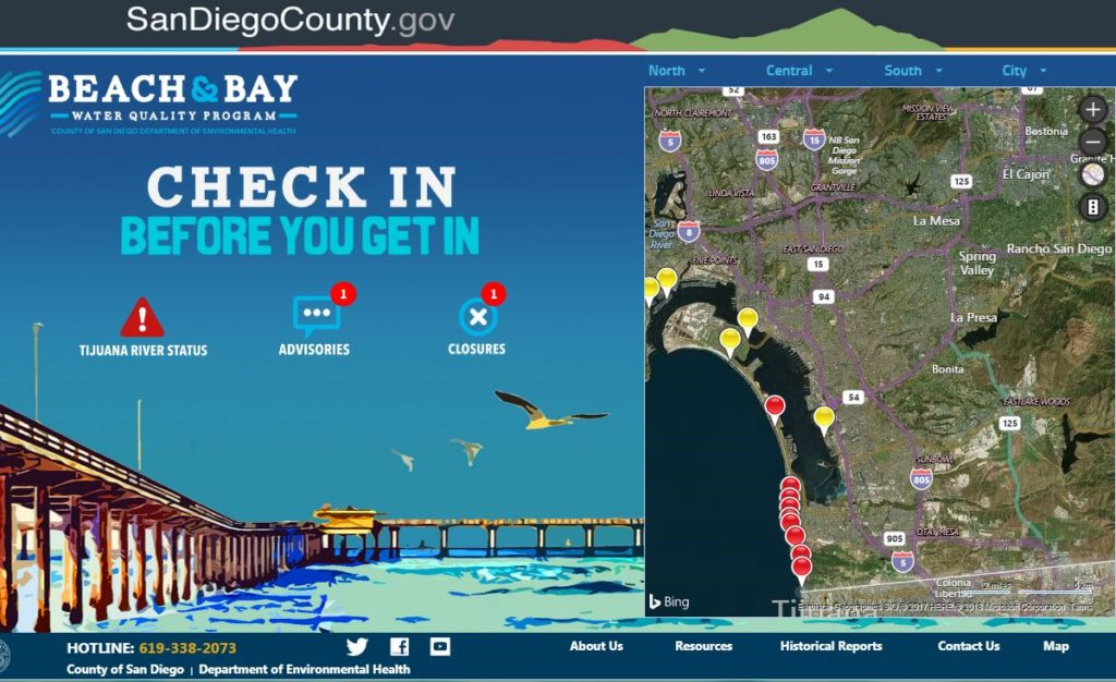 sdbeachinfo.com map