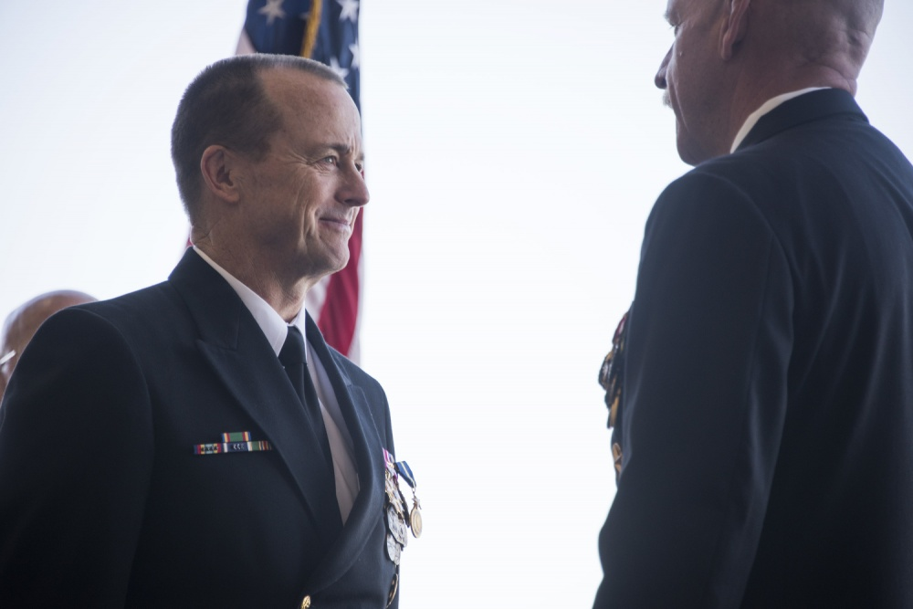 Vice Adm. Mike Shoemaker retires