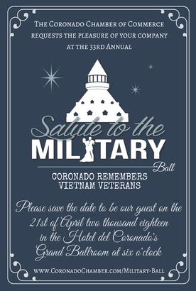 Veteran Military Ball Invite 2018 Coronado Times