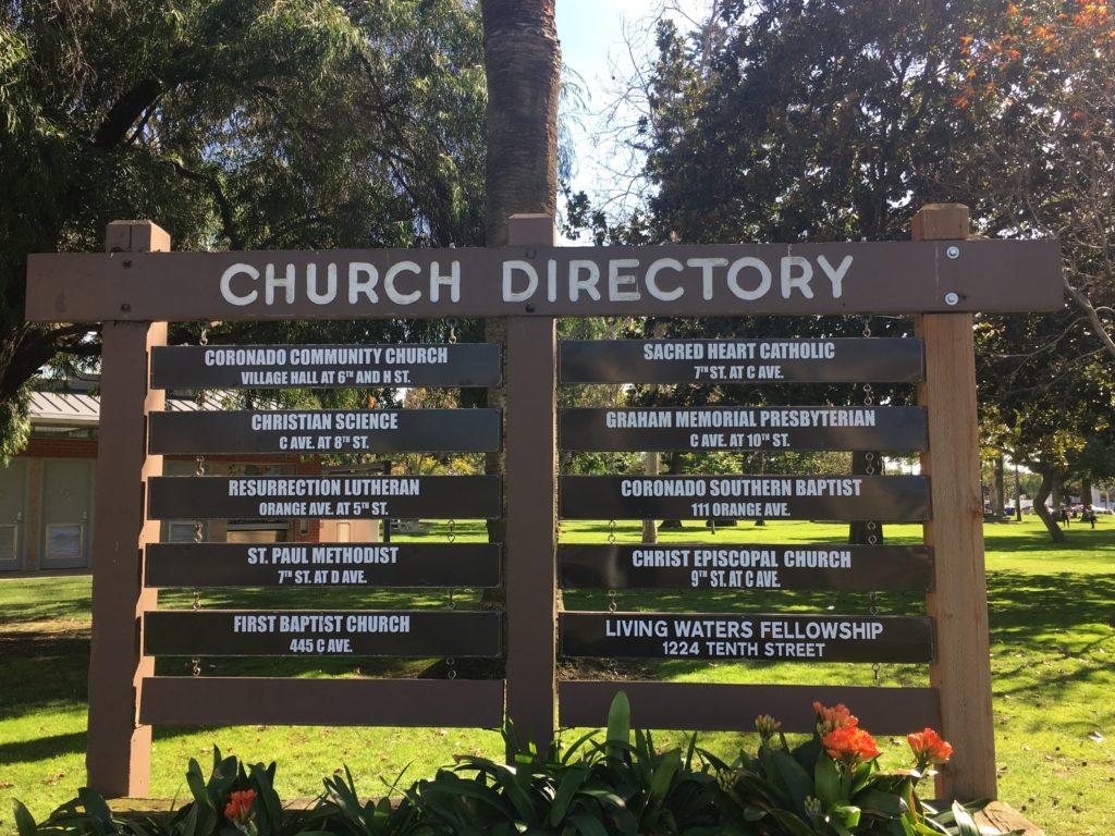 Coronado Church Directory