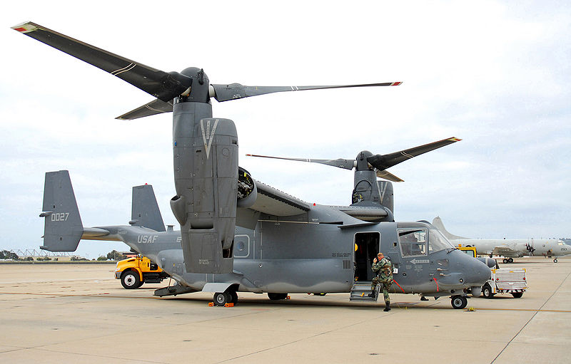 V-22 Osprey U.S. Navy photo by Mass Communication Specialist Seaman Daniel A. Barker