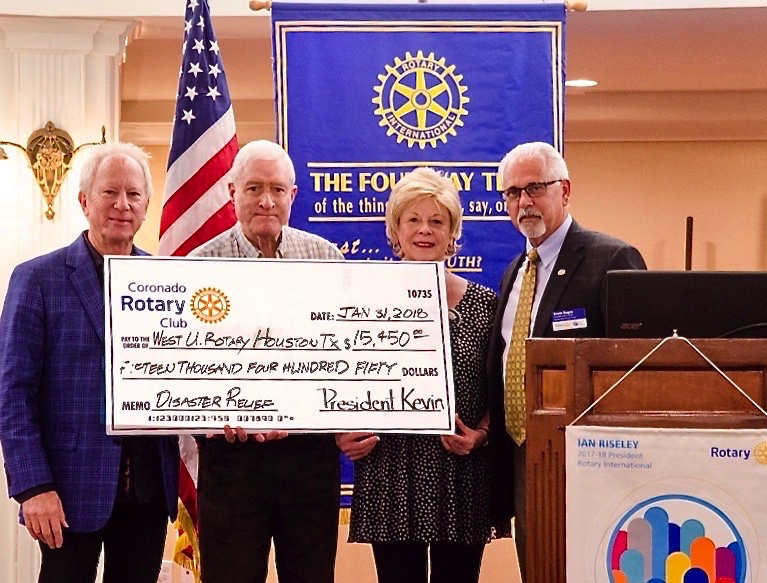 Rotary presents disaster relief check