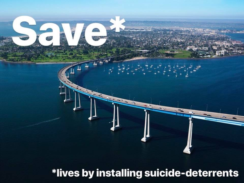 Save lives by installing suicide deterrents