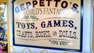 Geppetto's sign Old Town
