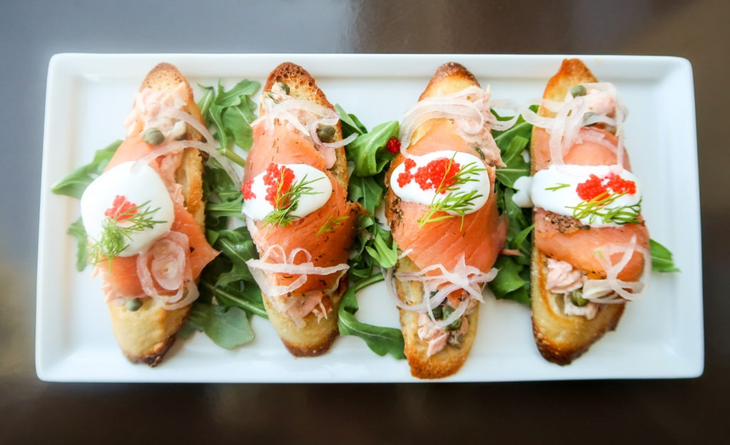 Salmon Bruschetta.