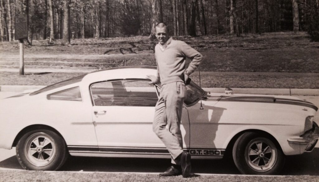 John Turpit, at 25, and his 1965 Shelby
