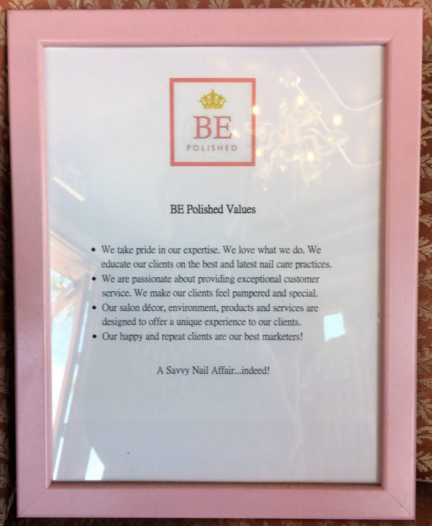 BE Polished values