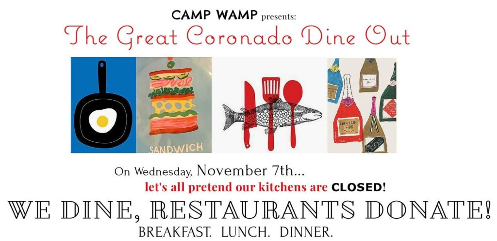 Camp Wamp Great Coronado Dine Out 2018