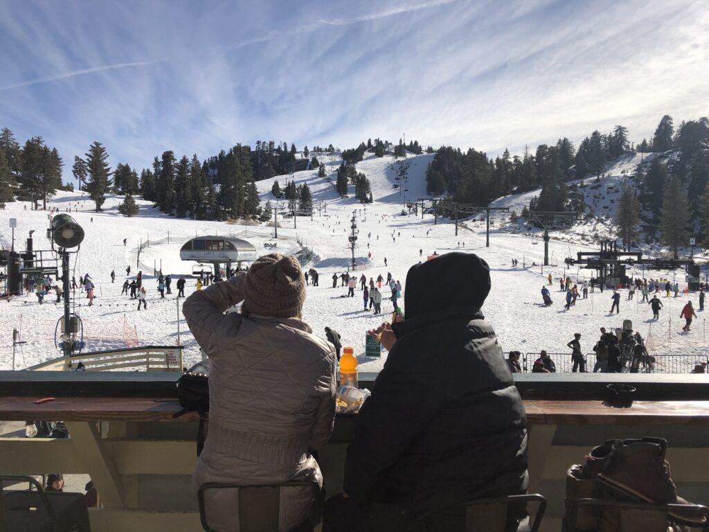Snow Valley outdoor deck