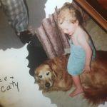 Lance and childhood dog Caty