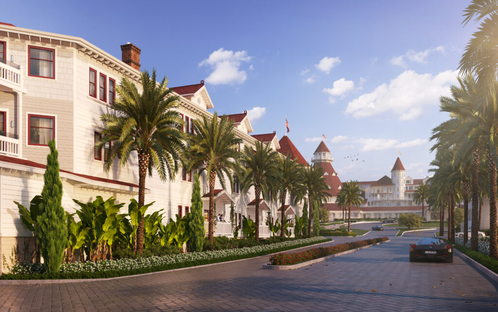 Hotel del Coronado new south facing main entry
