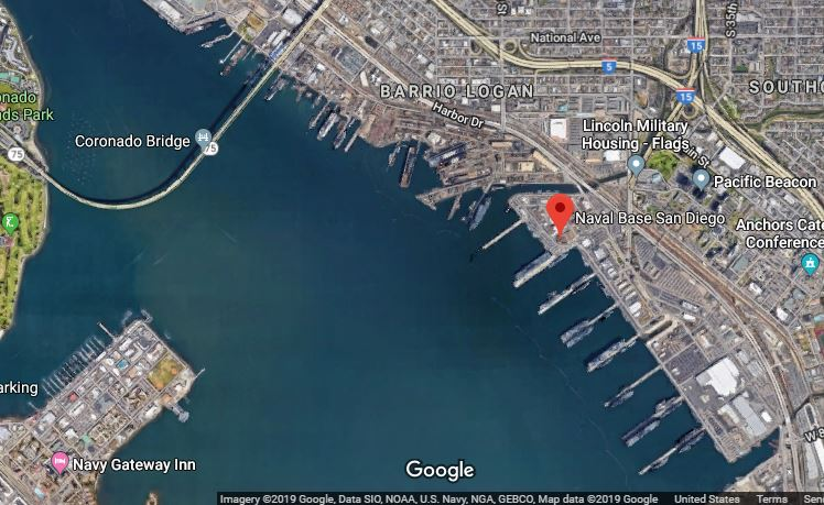 Naval Base San Diego Google Maps satellite image