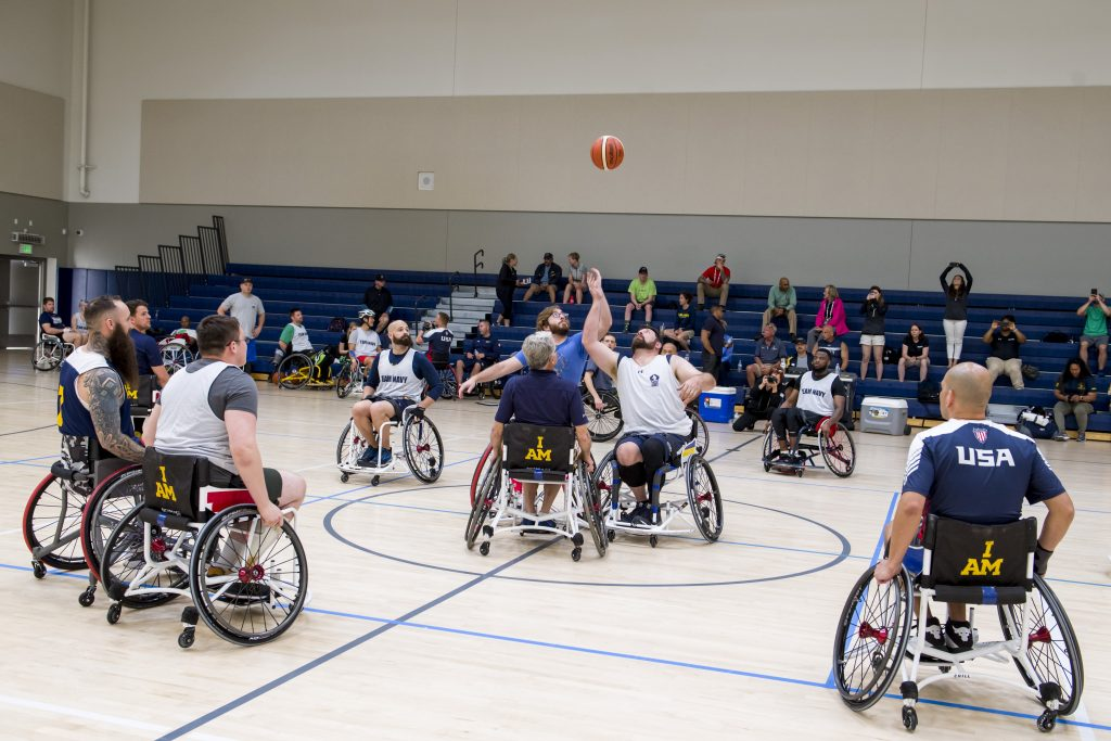Wounded Warrior Navy basketball trials