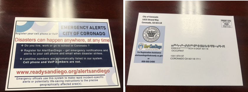 alert San Diego postcard