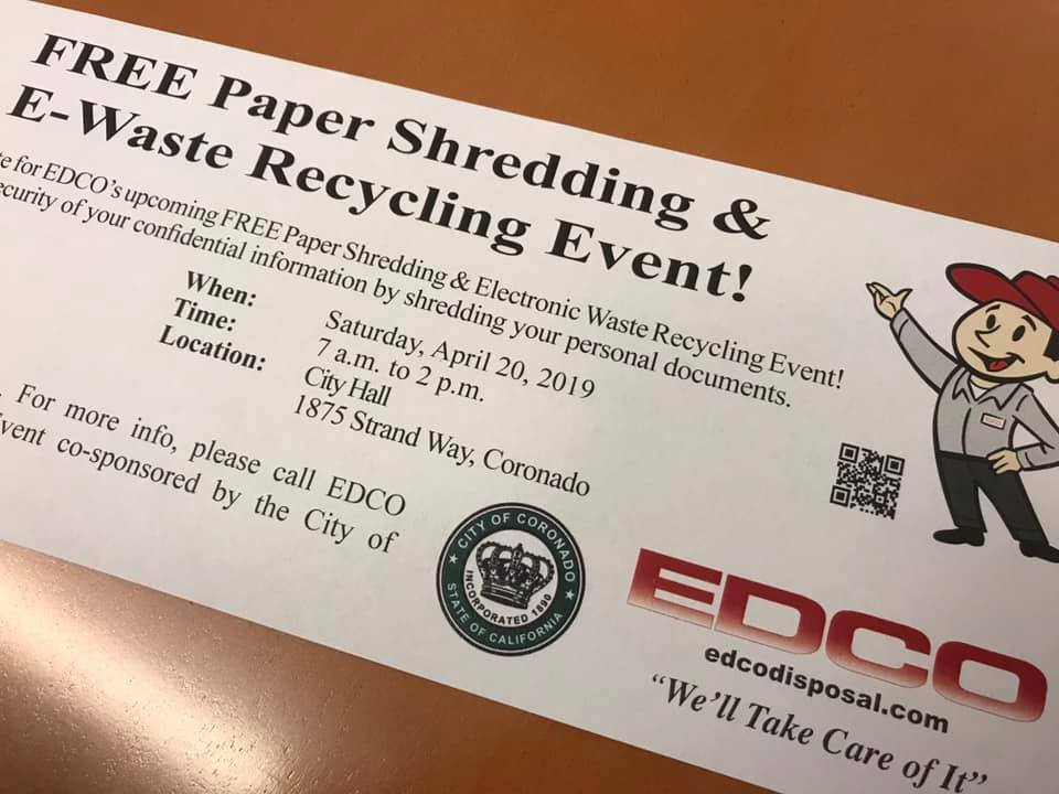 Paper Shredding and E-Waste Recycling | Coronado Times