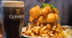 St Patrick Bluewater Boathouse Fish and Chips