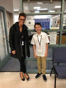 Karin Mellina with her Principal of the Day Student