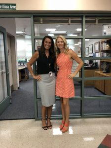 CMS Principal of the Year Karin Mellina with Assistant Principal Brooke Falar