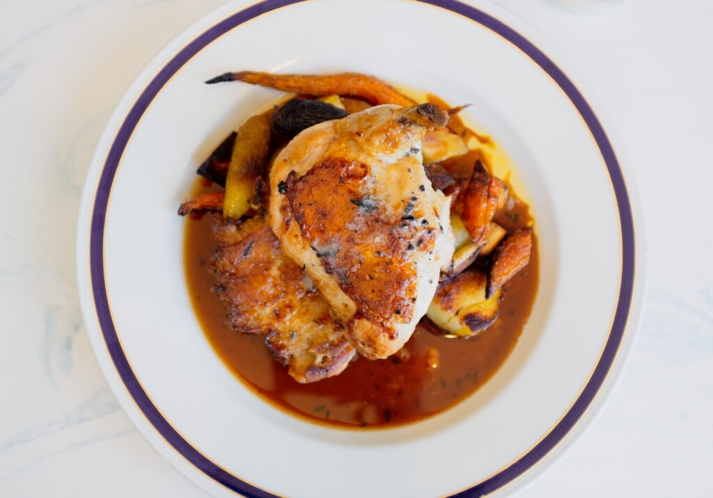 Chicken with Truffles_Credit to Blue Bridge Hospitality | Coronado Times