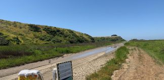 border trail detour for sewage