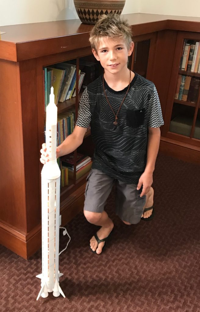 Reed with his 3D printed rocket