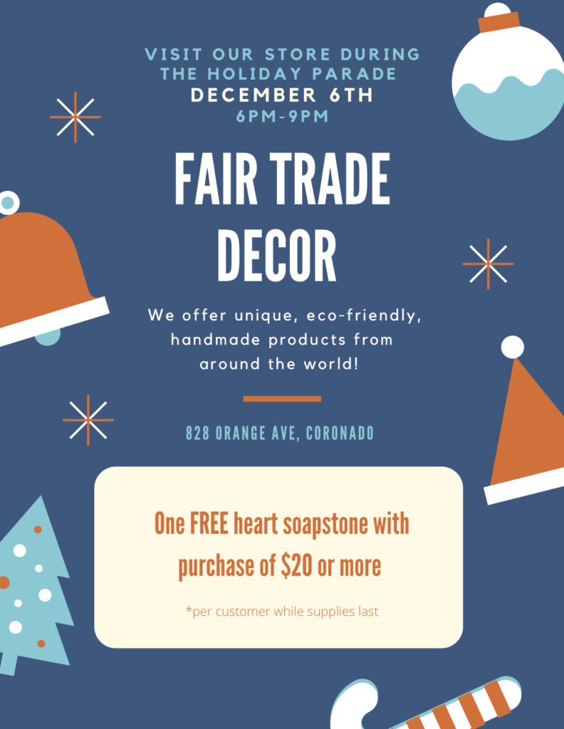 Fair Trade Decor Open House Coronado Times