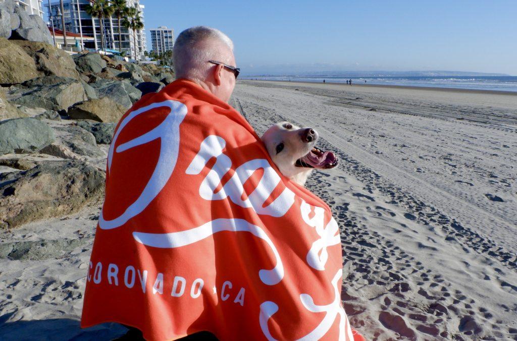 Orange Ave beach towel