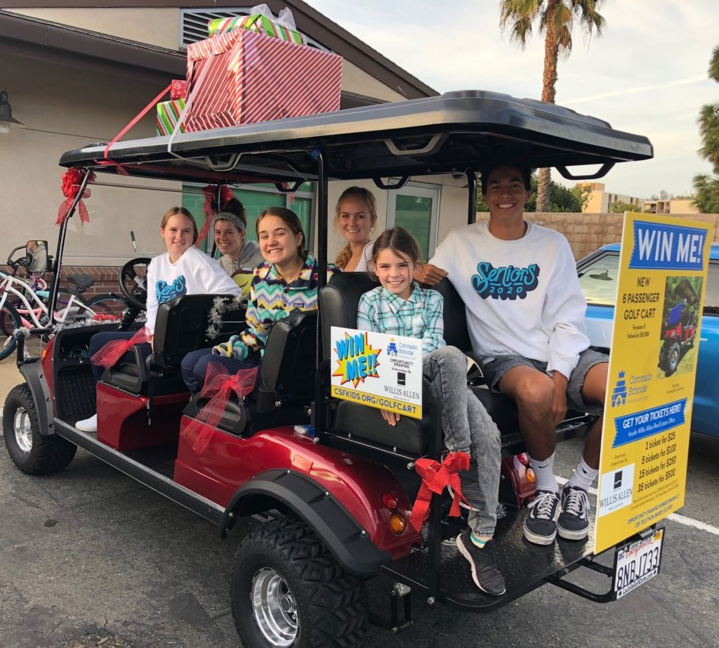 CSF golf cart giveaway