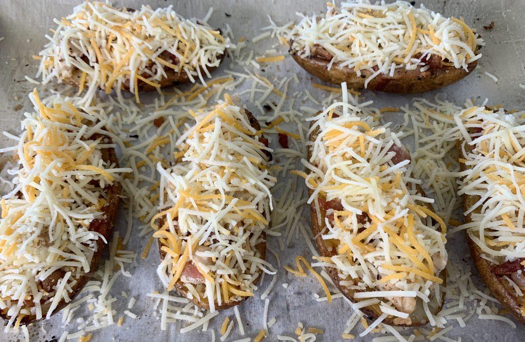 Chicken & Bacon Potato Skins