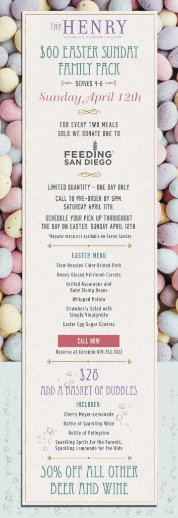 Easter dinner from The Henry