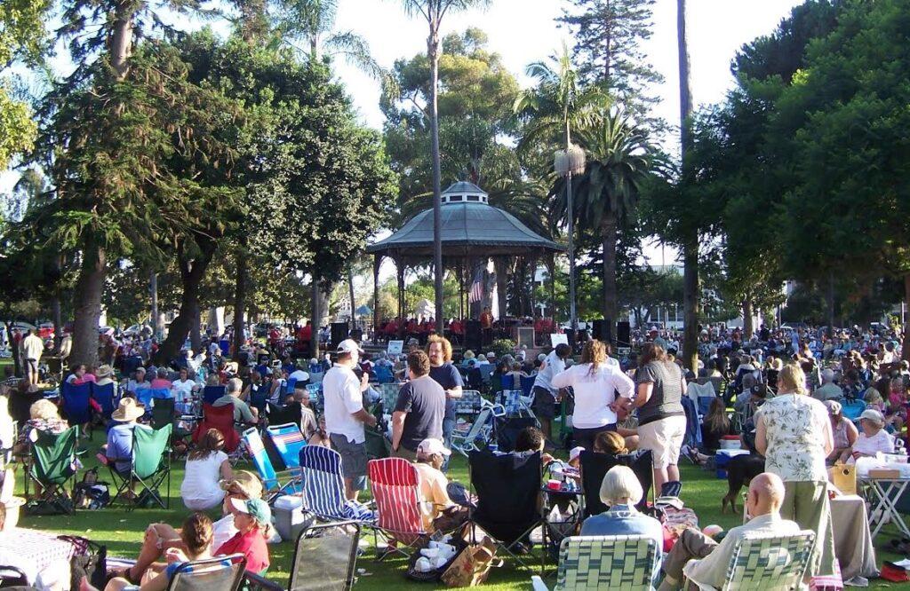 concerts in the park Coronado Spreckels Park